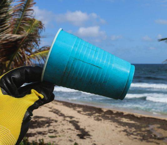 plastic in the sea